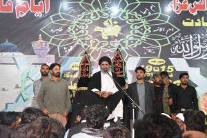 قائد ملت جعفریہ پاکستان کی قدم گاہ مولا علیؑ پر اجتماع سے خطاب