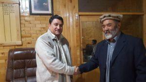 دیدار علی کی سیکرٹری قانون گلگت بلتستان جناب رحیم گل سے ملاقات
