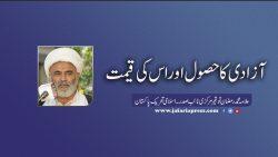 آزادی کا حصول اور اس کی قیمت علامہ محمد رمضان توقیر مرکزی نائب صدر ۔ اسلامی تحریک پاکستان