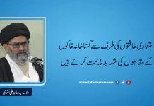 استعماری طاقتوں کی طرف سے گستاخانہ خاکوں کے مقابلوں کی شدید مذمت کرتے ہیں علامہ ساجد نقوی