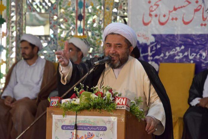 پاکستان کا قیام خالق ومالک کا عطاکردہ تحفہ جسکی حفاظت ہم سب کی ذمہ داری ہے ، علامہ عارف واحدی