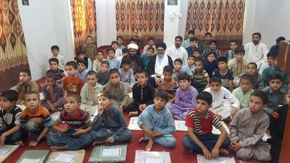 قائد ملت جعفریہ علامہ ساجد علی نقوی عید قربان کے موقع پر شہداء کے بچوں کے ساتھ