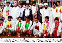 کوہاٹ اجتماعی شادی کی تقریب شیعہ علماء کونسل کے صدر علامہ حمید حسین امامی نے شرکت کی