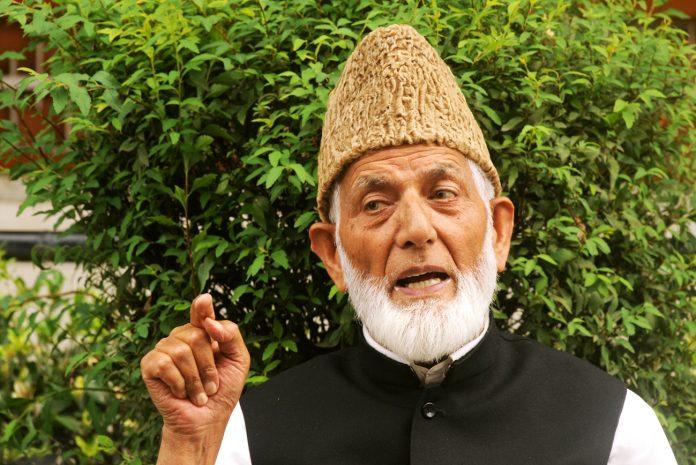 مقبوضہ کشمیر :سید علی گیلانی کی حریت رہنماؤں کیخلاف کریک ڈاؤن کی مذمت