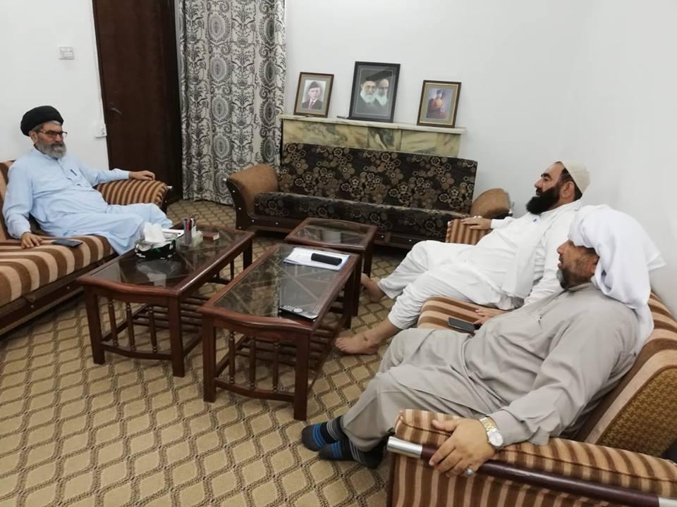 قائد ملت جعفریہ پاکستان آیت اللہ سید ساجد علی نقوی سے چیئرمین سچ ٹی علامہ افتخار نقوی کی ملاقات
