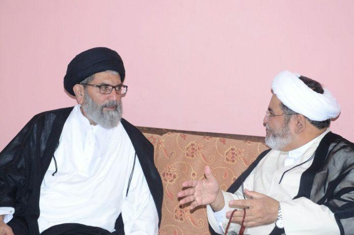 قائد ملت جعفریہ علامہ ساجد نقوی سے علامہ شبیر میثمی کی ملاقات