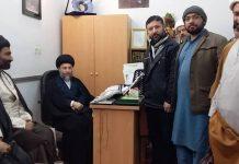 آیت اللہ سید ریاض الحکیم سے دفتر قائد ملت جعفریہ،قم کے وفد کی ملاقات*