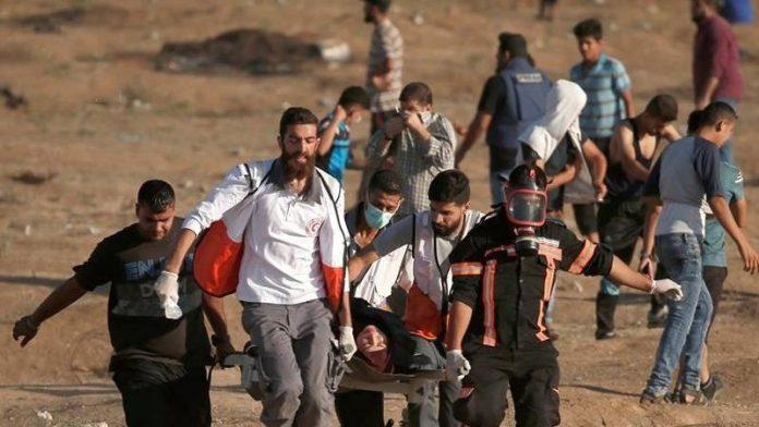 پرامن واپسی مارچ پر وحشیانہ حملہ، ایک فلسطینی شہید، 50 زخمی