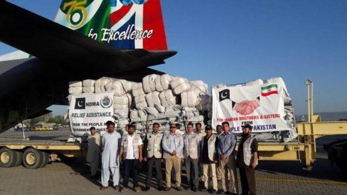 پاکستان سے امدادی سامان کی پہلی کھیپ ایران روانہ