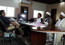 شیعہ علماء کونسل پاکستان سندھ کے وفد کی ڈی آئی جی لاڑکانہ سے ملاقات