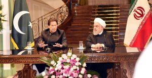 وزیر اعظم عمران خان اور ایرانی صدر حسن روحانی کی مشترکہ نیوز کانفرنس