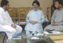 قائد ملت جعفریہ پاکستان سے جعفریہ اسٹوڈنٹس آرگنائزیشن کے مرکزی صدر کی ملاقات