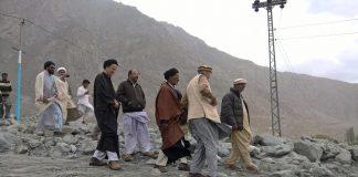 اسلامی تحریک پاکستان گلگت بلتستان کے رہنماوں کاشگر کے سیلاب زدہ علاقے کا دورہ۔
