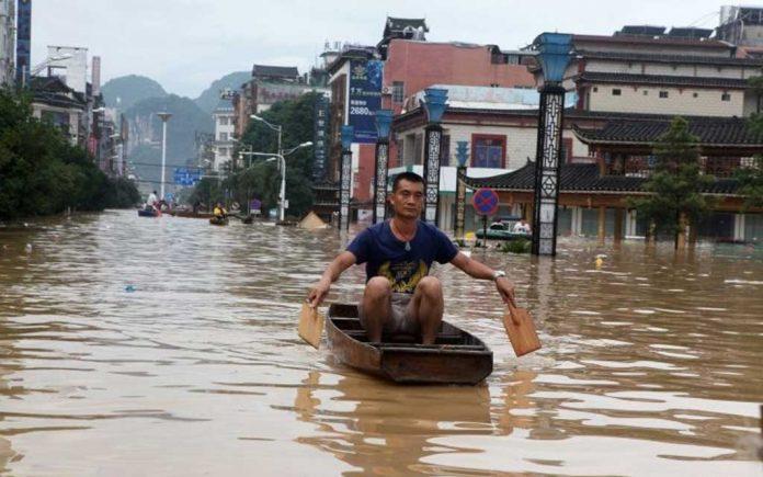 چین میں شدید بارشیں