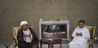 علامہ عارف حسین واحدی نے معروف شیعہ راھنما جناب میر الطاف حسین جعفری سےتعزیت