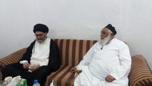 قائد ملت جعفریہ پاکستان سے آیت اللہ حافظ ریاض نجفی کی ملاقات