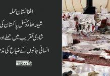 افغانستان حملہ شیعہ علماء کونسل پاکستان کی انسانی جانوں کے ضیاع کی مذمت