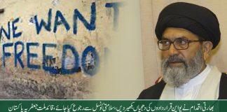 بھارتی اقدام نے یو این قراردادوں کی دھجیاں بکھیر دیں، سلامتی کونسل سے رجوع کیا جائے ، قائد ساجد نقوی