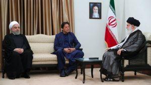 عمران خان رہبر انقلاب اسلامی اور صدر مملکت کے ہمراہ