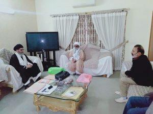 قائد ملت جعفریہ پاکستان  سے سندھ پلگرمز ویلفیئر آرگنائزیشن کے وفد کی ملاقات