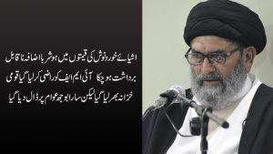 اشیائے خوردنوش کی قیمتوں میں ہوشربا اضافہ ناقابل بر داشت ہو چکا ، قائد ملت جعفریہ پاکستان علامہ ساجد نقوی