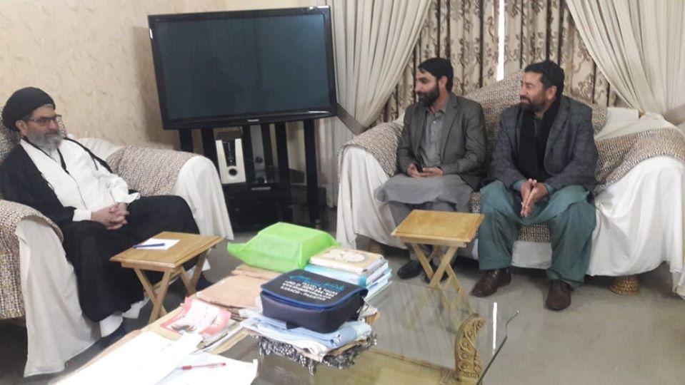 قائد ملت جعفریہ پاکستان سے ممبر اسمبلی گلگت بلتستان کیپٹن سکندر علی کی ملاقات