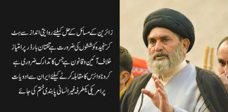 زائرین کے مسائل کے حل کیلئے روایتی اندازسے ہٹ کرسنجیدہ کوششوں کی ضرورت ہے قائد ملت جعفریہ پاکستان