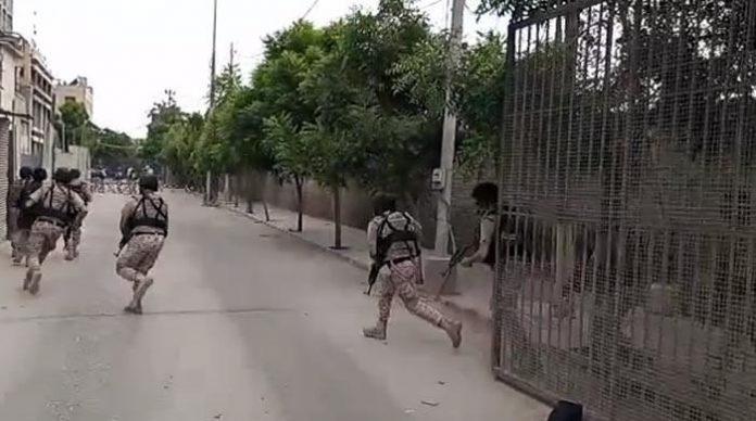 کراچی اسٹاک ایکسچیج حملہ ناکام کردیا گیا سکیورٹی ادارے