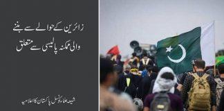 زائرین کے حوالے سے بننے والی ممکنہ پالیسی پر شیعہ علماء کونسل پاکستان کا اعلامیہ جاری