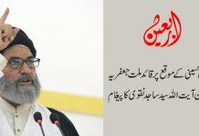 اربعین حسینی کے موقع پر قائد ملت جعفریہ پاکستان آیت اللہ سید ساجد نقوی کا پیغام