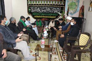 مدیر دفتر قائد ملت جعفریہ قم کی دفتر قائد مشہد کے مدیر و کابینہ کے ساتھ صمیمی نشست