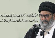 شہید محسن فخری زادہ کی شہادت و بیرونی جارحیت قابل مذمت ہے، قائد ملت جعفریہ