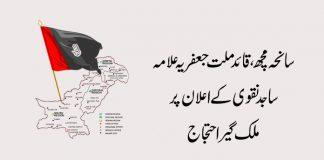 سانحہ مچھ ،قائد ملت جعفریہ علامہ ساجد نقوی کے اعلان پرملک گیر احتجاج