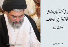 جبری گمشدگیاں انسانی حقوق و آئین کی خلاف ورزی ہے، قائد ملت جعفریہ علامہ ساجد نقوی