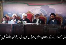 عزاداری کے خلاف کریک ڈاؤن ! جلوس دھرنوں میں بدل دینگےشیعہ علماء کونسل پاکستان