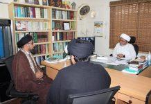 علامہ سید ظفر علی شاہ نقوی صاحب نے علامہ شبیر حسن میثمی سے کراچی میں ملاقات کی