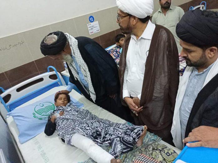 شیعہ علماء کونسل پاکستان کے نمائندہ وفد کی سانحہ عاشور بہاولنگر (پنجاب) کے شہداء کے گھروں اور زخمیوں کی عیادت
