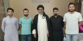 قائد ملت جعفریہ پاکستان علامہ ساجد نقوی سے آزاد کشمیر کے طالب علموں کی ملاقات