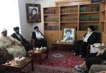 قم : علامہ ساجد علی نقوی کی آیت اللہ العظمی سید علوی بروجردی سے ملاقات