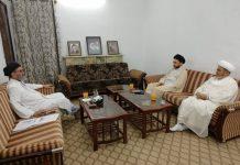 قائد ملت علامہ ساجد نقوی سے علامہ شبیر میثمی اور علامہ شہنشاہ نقوی نے ملاقات کی