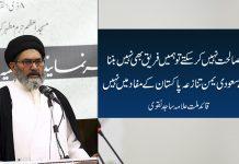 اگر مصالحت نہیں کرسکتے تو ہمیں فریق بھی نہیں بننا چاہیے سعودی یمن تنازعہ پاکستان کے مفاد میں نہیں علامہ ساجد نقوی
