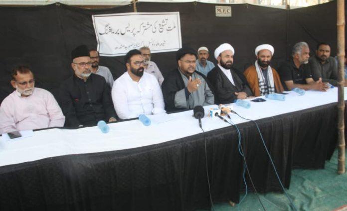 کراچی : اربعین امام حسین ؑ کا مرکزی جلوس ایم اے جناح روڈ سے ہی گزرے گا مشترکہ پریس کانفرنس