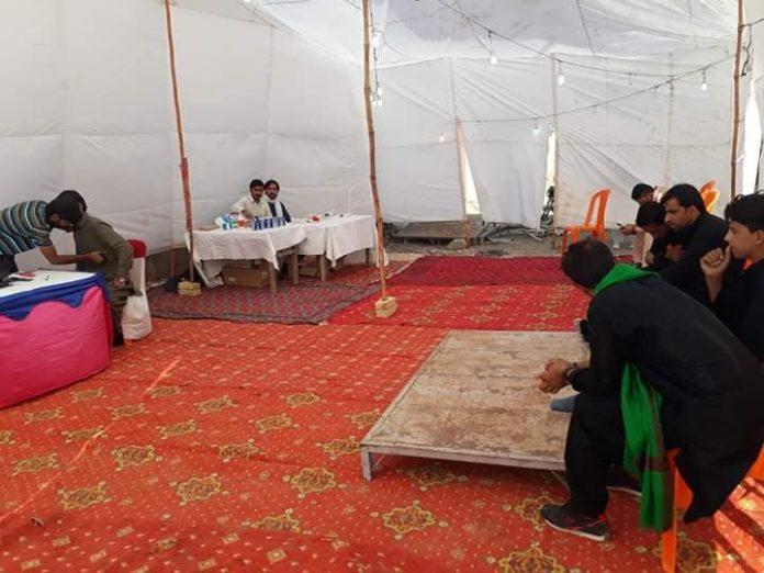 قائد ملت جعفریہ پاکستان کی جانب سے کوئٹہ میں زائرین کے لئے میڈیکل کمیپ قائم