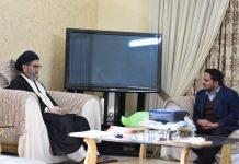 قائد ملت جعفریہ پاکستان علامہ ساجد علی نقوی سے مرکزی صدر جے ایس او ذیشان شمسی کی ملاقات