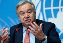 عالمی برادری کورونا کا مقابلہ کرنے کے لئے ایران سے تعاون کرے: انٹینو گوتریش