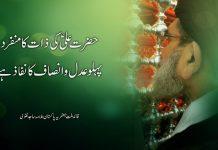 حضرت علی ؑکی ذات کا منفرد پہلو عدل و انصاف کا نفاذ ہے، قائد ملت جعفریہ پاکستان علامہ ساجد نقوی