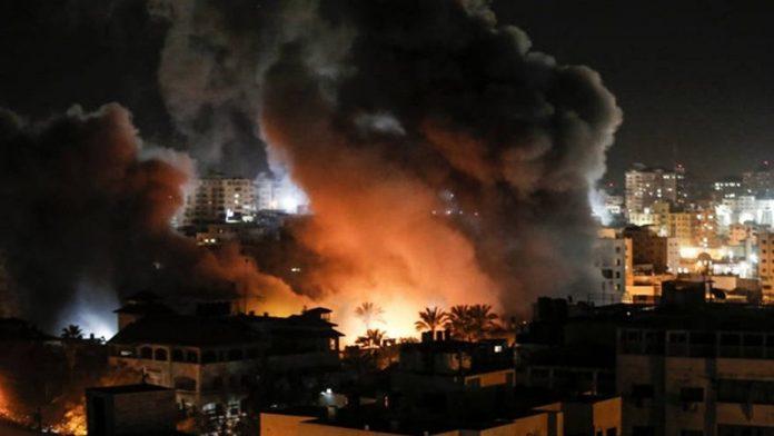 اسرائیلی جنگی طیاروں کی غزہ پر بمباری