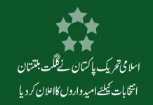 اسلامی تحریک پاکستان نے گلگت بلتستان انتخابات کیلئے امیدواروں کا اعلان کردیا