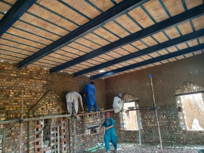 قائد ملت جعفریہ پاکستان کی جانب سے نصیر آباد میں مسجد کی تعمیر جاری