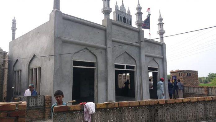 قمبر۔ سندھ قائد ملت جعفریہ پاکستان کی ہدایت پر جامد مسجد علی اکبر ؑ کی تعمیر نو مکمل